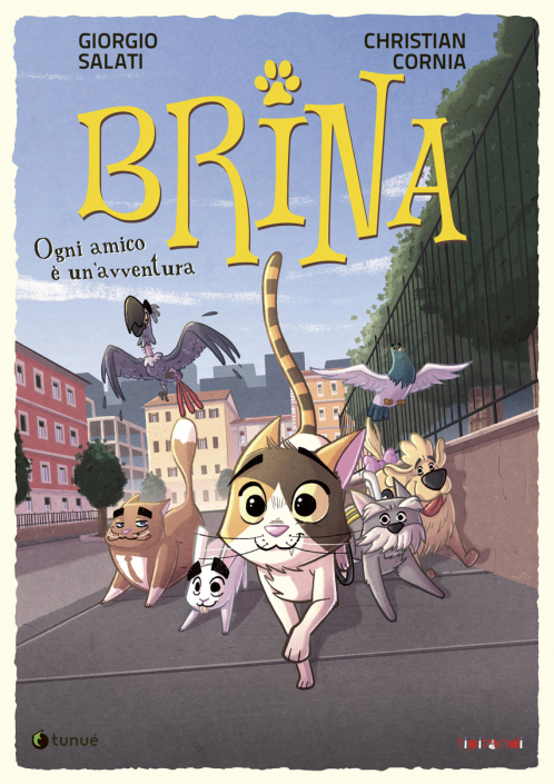 "Cover of ""Brina- Ogni amico è un'avventura"" book by Christian Cornia"