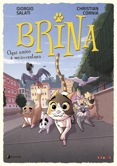 """Cover of """"Brina- Ogni amico è un'avventura"""" book by Christian Cornia"""