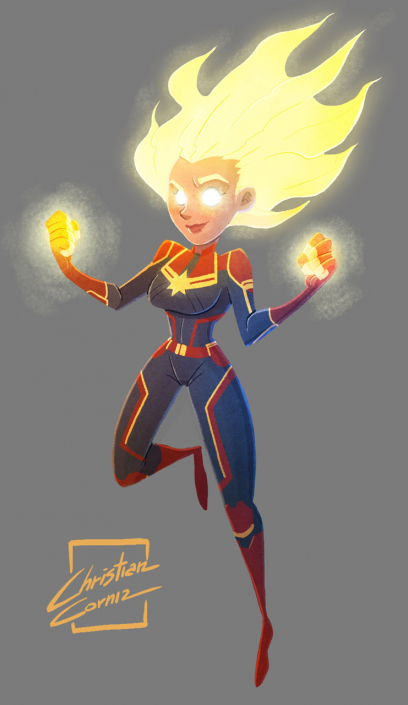 Captain Marvel fanart by Christian Cornia