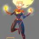 Captain Marvel fanart by Christian Cornia