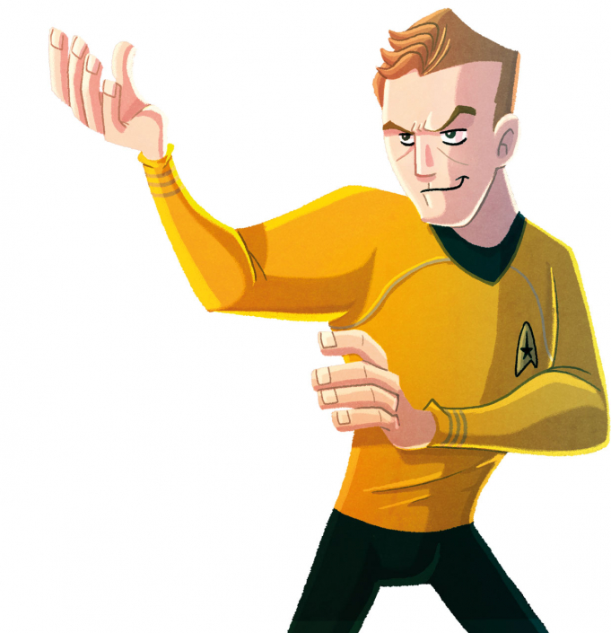 "Cover of the ""Star Trek - Kirk fu Manual"" by Christian Cornia"