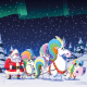 """cover of """"The Unicorns Who Saved Christmas"""" book, illustrated by Christian Cornia"""