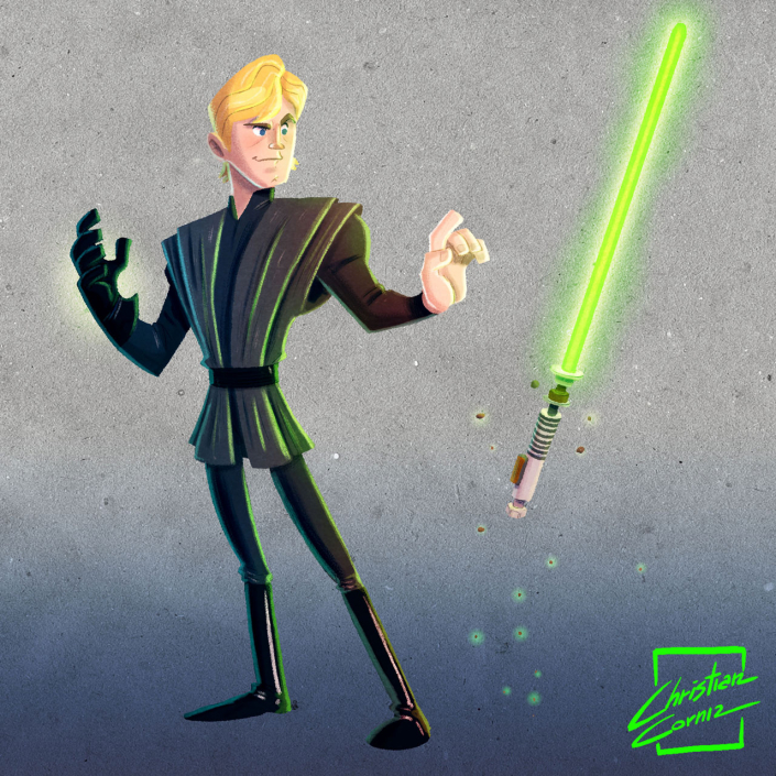 Luke skywalker tribute made by Christian Cornia for the May the 4th Celebration
